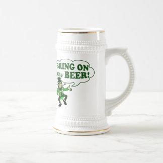 Bring On The Beer Leprechaun Beer Stein