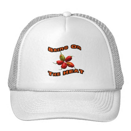 Bring On The Heat Five Hot Habanero Peppers Mesh Hats