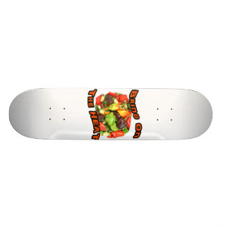 Bring On The Heat Hot Pepper Pile Graphic Skateboard Deck