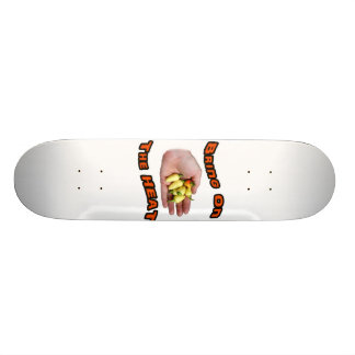 Bring On The Heat White Hot Pepper Pile Hand Skateboard