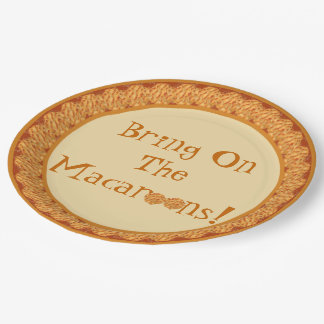 Bring On The Macaroons! Paper Plate 9 Inch Paper Plate