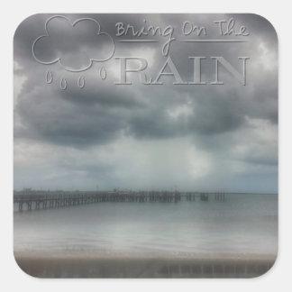 Bring on the Rain Square Stickers