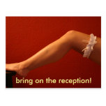 bring on the reception! postcard