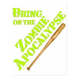 Bring on the Zombie Apocalypse 2 Postcard