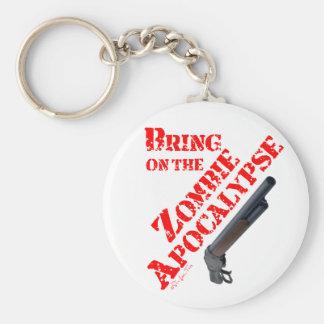 Bring on the Zombie Apocalypse Basic Round Button Keychain