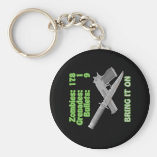 Bring on the Zombies Basic Round Button Keychain