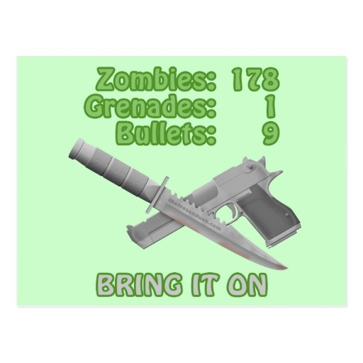 Bring on the Zombies Postcard