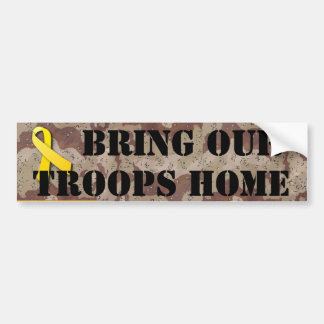 BRING OUR TROOPS HOME CAR BUMPER STICKER