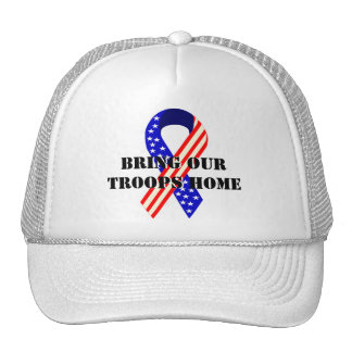 Bring Our Troops Home USA Ribbons Trucker Hat