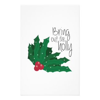Bring Out The Holly Stationery Paper