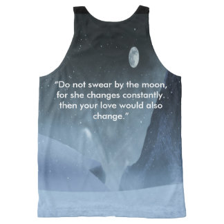 Bring out the  moon graphic tank. All-Over-Print tank top