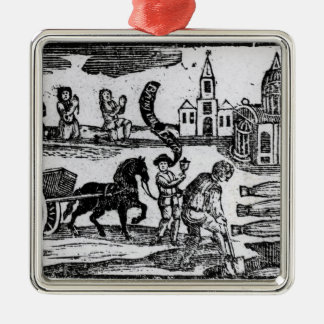 Bring Out Your Dead, The Great Plague of 1665 Metal Ornament