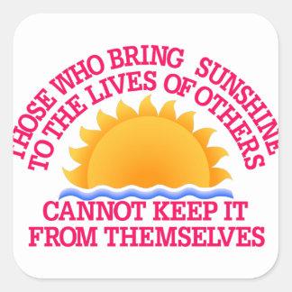 Bring Sunshine Square Sticker