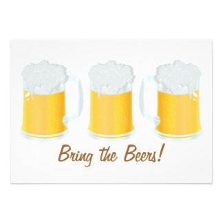 Bring the Beers Party Invite