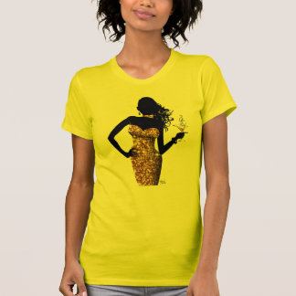 Bring the Bling Bombshell Sparkle   gold T Shirts