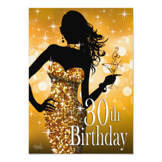 Bring the Bling Sparkle 30th Birthday | gold Card
