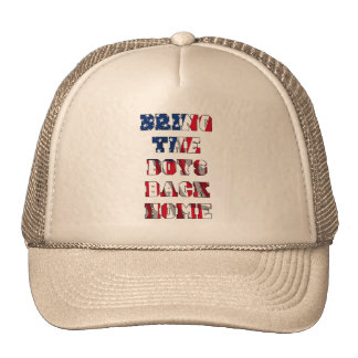Bring the boys back home trucker hat