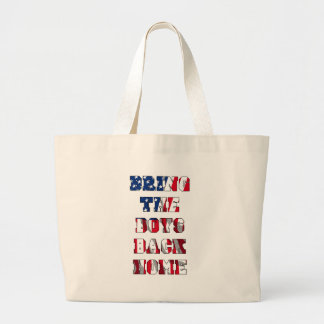 Bring the boys back home large tote bag