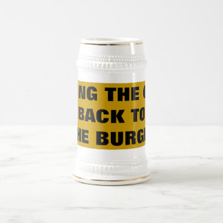 BRING THE CUP BACK TO THE BURGH! 18 OZ BEER STEIN