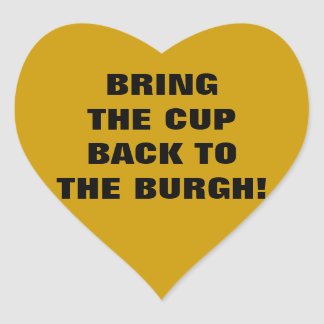 BRING THE CUP BACK TO THE BURGH STICKERS