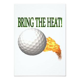 "Bring the Heat 5"" X 7"" Invitation Card"