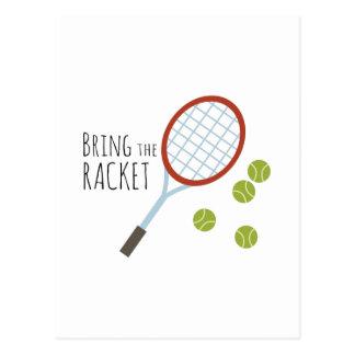 Bring the Racket Postcard