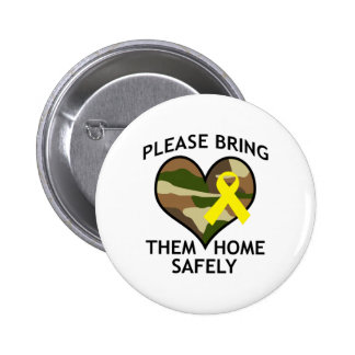 BRING THEM HOME SAFELY PINBACK BUTTONS
