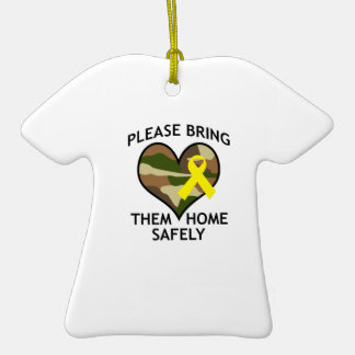 BRING THEM HOME SAFELY Double-Sided T-Shirt CERAMIC CHRISTMAS ORNAMENT