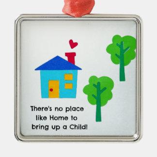 Bring up a child.... metal ornament