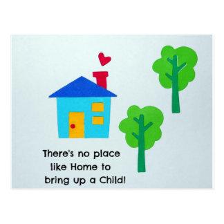 Bring up a child.... postcard