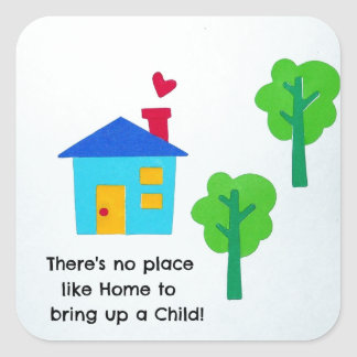 Bring up a child.... square sticker