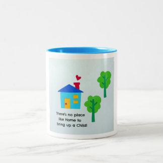 Bring up a child.... Two-Tone coffee mug