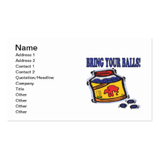 Bring Your Balls Business Card Template