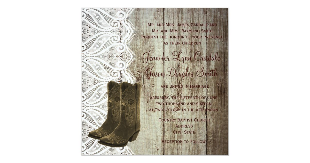 Boots Wedding Invitations: Bring Your Boots Cowboy Wedding Invitations