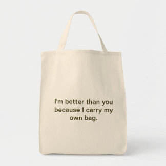 Bring your own grocery bag