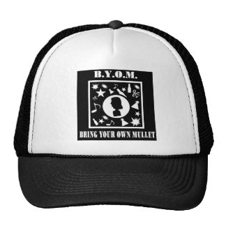 Bring Your Own Mullet (B.Y.O.M.) Trucker Hat