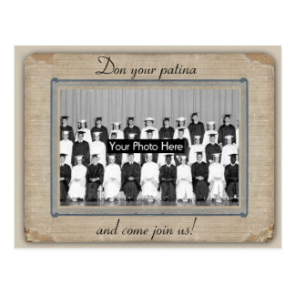 Bring Your Patina to the Reunion - Save the Date Postcard
