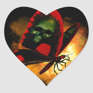 """Bringer of Death"" Butterfly Heart Sticker"