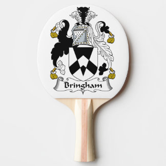 Bringham Family Crest Ping-Pong Paddle