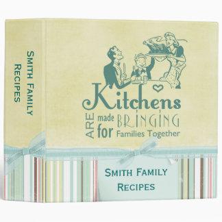Bringing Families Together Recipe Binder