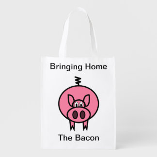 Bringing Home The Bacon Grocery Bags