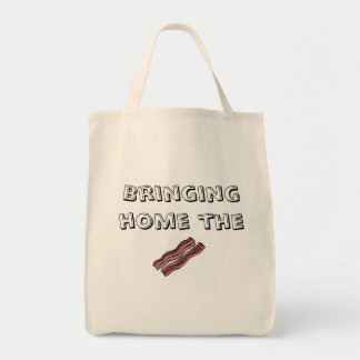 Bringing Home the Bacon Grocery Tote Bag