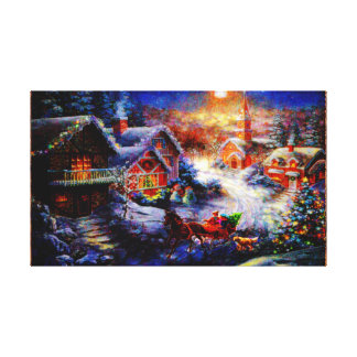 Bringing Home The Christmas Tree Canvas Print