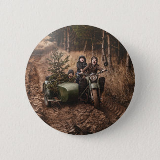 Bringing Home The Christmas Tree Pinback Button