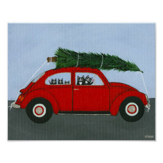 Bringing Home The Christmas Tree Posters