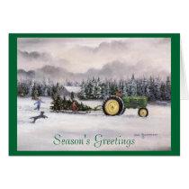 Bringing home the tree, Season's Greetings Card