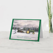 Bringing home the tree, Season's Greetings Holiday Card
