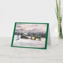 Bringing home the tree, Season's Greetings Holiday Card