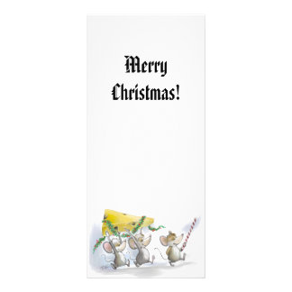 Bringing In The Christmas Cheese Holiday Bookmark Rack Card