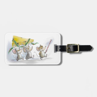 Bringing In The Christmas Cheese luggage Tag